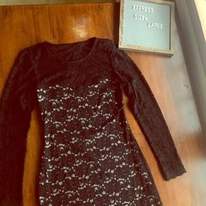 Express long sleeve lace bodycon dress - Large